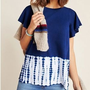 Anthropologie Rayna Tie-Dyed Tee